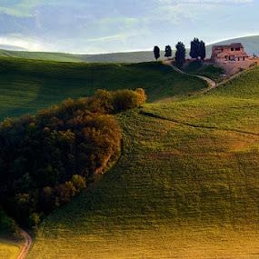 Evening hills by Izidor Gasperlin - Landscapes Mountains & Hills