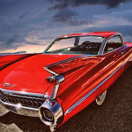 Fleetwood by JEFFREY LORBER - Transportation Automobiles ( fleetwood, 1959, lorberphoto, cadillac, rust 'n chrome, jeffrey lorber, red car, car photo )