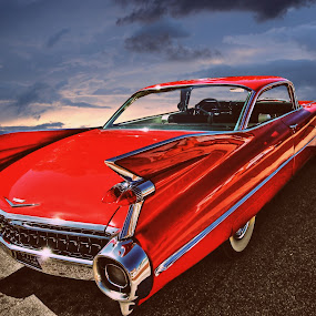 Fleetwood by JEFFREY LORBER - Transportation Automobiles ( fleetwood, 1959, lorberphoto, cadillac, rust 'n chrome, jeffrey lorber, red car, car photo,  )