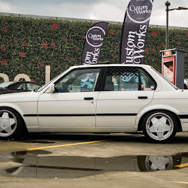 clean bimmer by Liviu Golgojan - Transportation Automobiles ( bimmer, e30, ;ow, white, bmw )