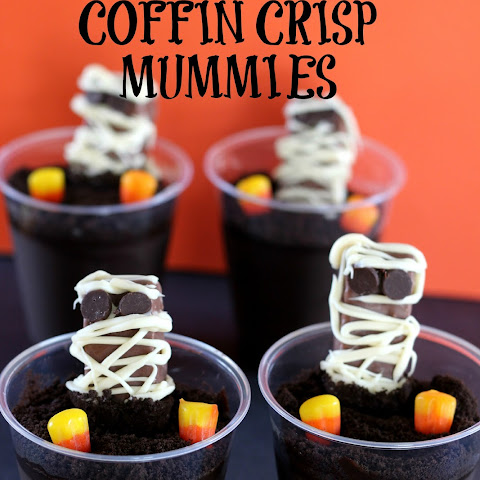 COFFIN CRISP Mummies in a Graveyard Halloween Treat!