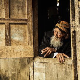 old man 4 by Tiz Brotosudarmo - People Portraits of Men