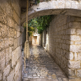 Trogir streets by Mario Španjić - City,  Street & Park  Historic Districts ( trogir, stone )