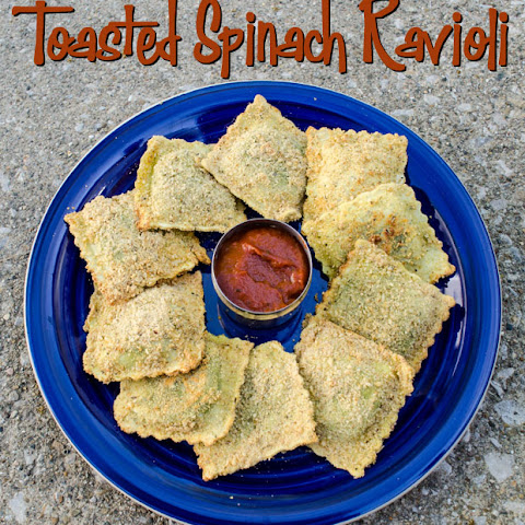 Oven Toasted Spinach Ravioli