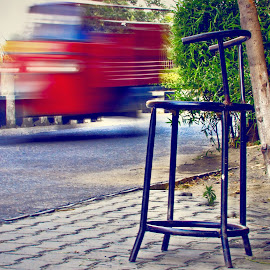 Motion Photography by Deepak Kumar - Artistic Objects Furniture ( chair, time, tree, street )