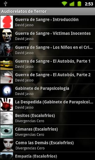 audiorelatos-de-terror for android screenshot