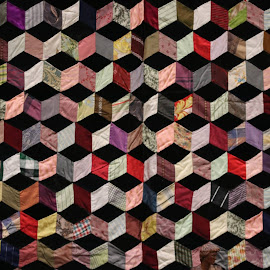 Quilted colors by Robin Rawlings Wechsler - Abstract Patterns ( patterns, textile art, geometric, textile, abstract, colors )