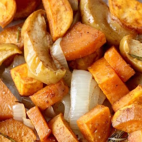 Roasted Five-Spice Sweet Potatoes & Apples