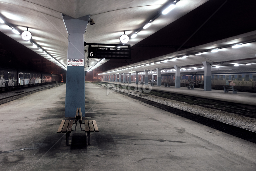 NRS Train Station of Thessaloniki by Paschalis Angelopoulos - Travel Locations Railway ( nrs, platform, train station, new railway station, thessaloniki, rail )