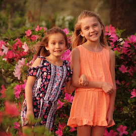 Two sisters by Brenda Shoemake - Babies & Children Child Portraits (  )