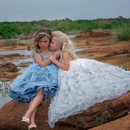 secrets by Carole Brown - Babies & Children Child Portraits ( epic, blonde hair, river creek, gorgeous dresses, brown hair )
