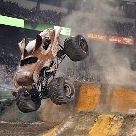 Wooooof!! by Savannah Eubanks - Sports & Fitness Motorsports ( truck, backflip, monster jam, monster truck, jump )