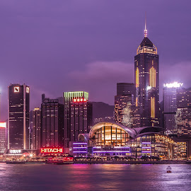 Hong Kong Skyline by Dmitriy Andreyev - City,  Street & Park  Night