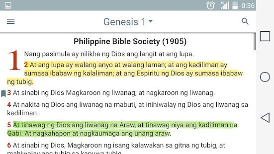 Ang dating biblia genesis to apocalipsis chapter and verse 3