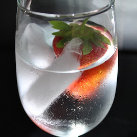 The Berry by Anika McFarland - Food & Drink Alcohol & Drinks ( fruit, ice, drink, glass, strawberry,  )