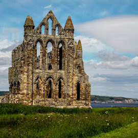 Whitby Abbey by Andrew Lancaster - Buildings & Architecture Places of Worship ( abbey, beautiful, beauty, grass, church, brick, worship, building, pray, stone )