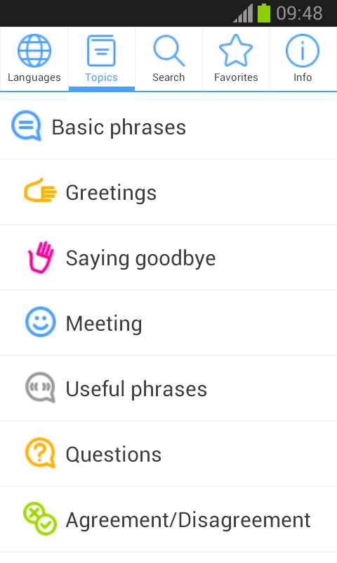 Phrasebook PRO (16 languages) Screenshot 1