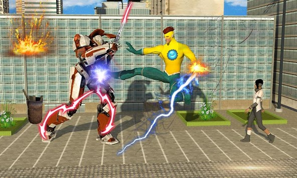 Lightning Flash Hero Speed Robot Transformation APK screenshot thumbnail 4