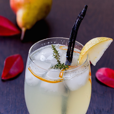 Vanilla Pear Rum Cocktail