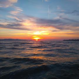 sunset by Zdenko Katanica - Instagram & Mobile Android ( reflection, adriatic, sukošan, sunset, zalazak, sunce, dalmatia, sun )