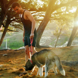 My litlle  by Leonardo Lucas - Animals - Dogs Running ( luna, park, husky, dog )