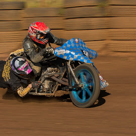 Blue wheel spinning by Francois Retief - Sports & Fitness Motorsports