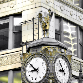 Father Time by Gary Ambessi - City,  Street & Park  Street Scenes