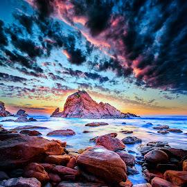 Coastal Sunset by Greg Tennant - Landscapes Sunsets & Sunrises ( sunset, ocean, coastline )