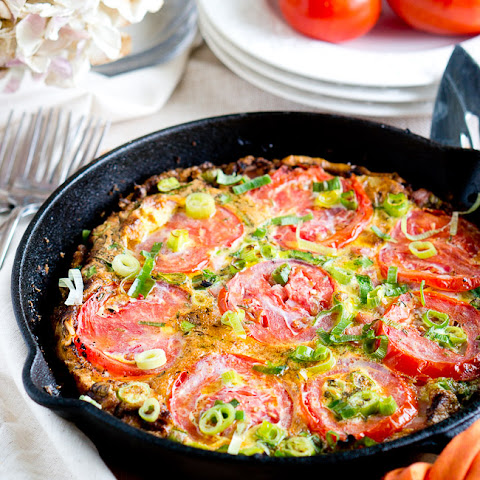 Potato, Ham and Tomato Frittata