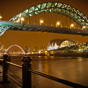 Newcastle by Night by Rob Colclough - Buildings & Architecture Bridges & Suspended Structures