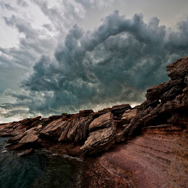 Top End by Nick Ashcroft - Landscapes Cloud Formations ( clouds, australia, ocean, storm, rocks )