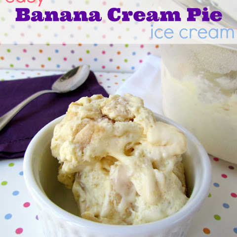 Banana Cream Pie Ice Cream {without a machine!}