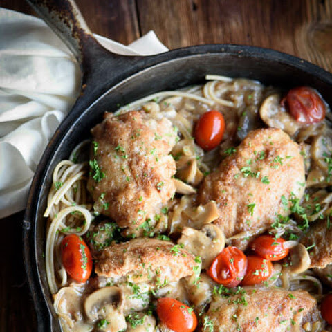 One Pan Stuffed Chicken Marsala