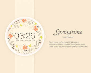 Springtime watchface by Mowmow Screenshot