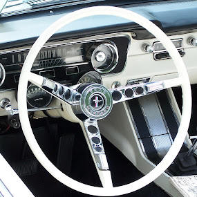 Vintage Interior 1 by Christy Leigh - Transportation Automobiles ( interior, dash board, classic car, blue, green white, vintage car, steering wheel )