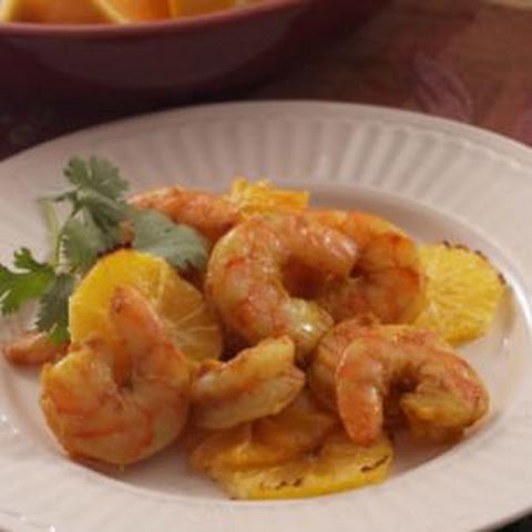 Curry-Roasted Shrimp with Oranges