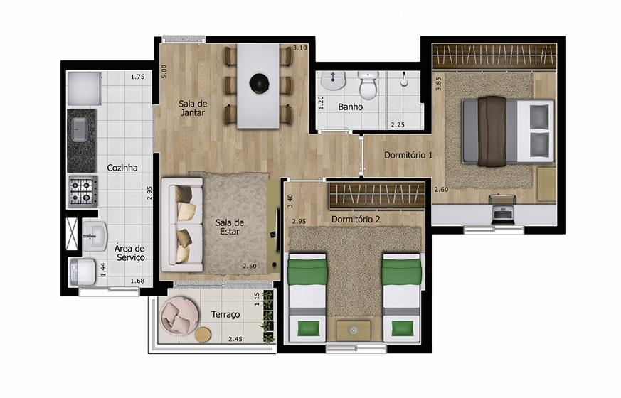Apartamento residencial à venda, Vila Baeta Neves, São Berna