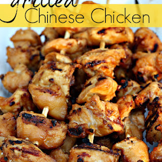 Grilled Chinese Chicken Kabobs
