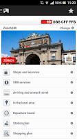 Screenshot of SBB Mobile