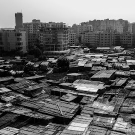 Discrimination  by Shadman Chowdhury - Instagram & Mobile Android ( mobilography, cityscape, black and white, people, journalism )