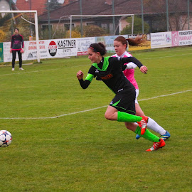 Laura hunts the Ball  by Franz  Adolf - Sports & Fitness Soccer/Association football ( sports, fußball, soccer )