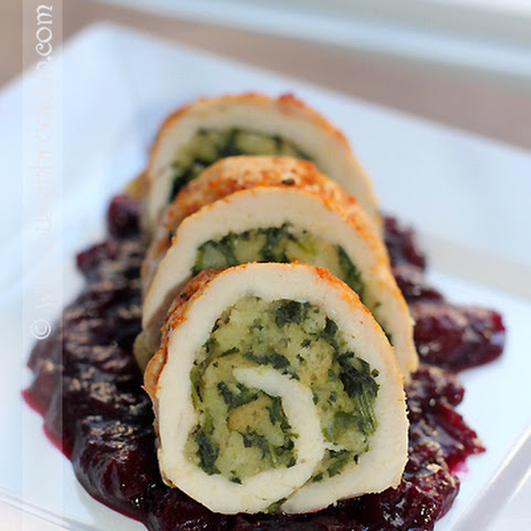 Thankgiving Turkey Roulade with 5-Minute Stuffing