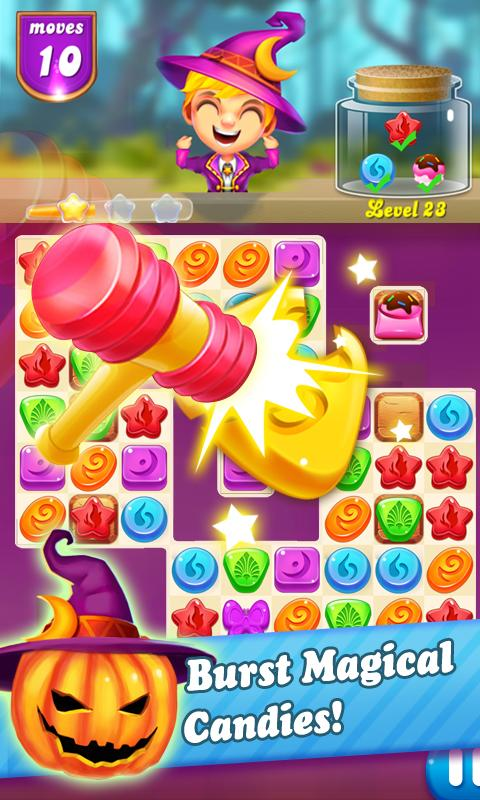 Candy witch : Halloween party Screenshot 0