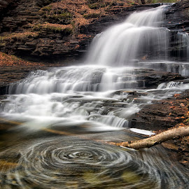 Stirring The Pot by Robert Fawcett - Landscapes Waterscapes ( nature, waterfall, pennsylvania, places, travel, landscape )