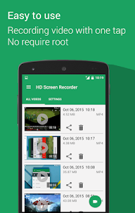 HD Screen Recorder - No Root Screenshot
