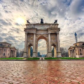 Arco Della Pace by Luca Libralato - Buildings & Architecture Statues & Monuments ( milan, castello, arco della pace, italy, milano, parco sempione )