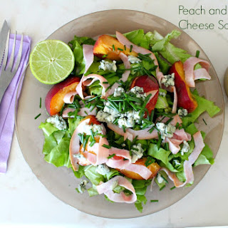 Peach and Blue Cheese Salad
