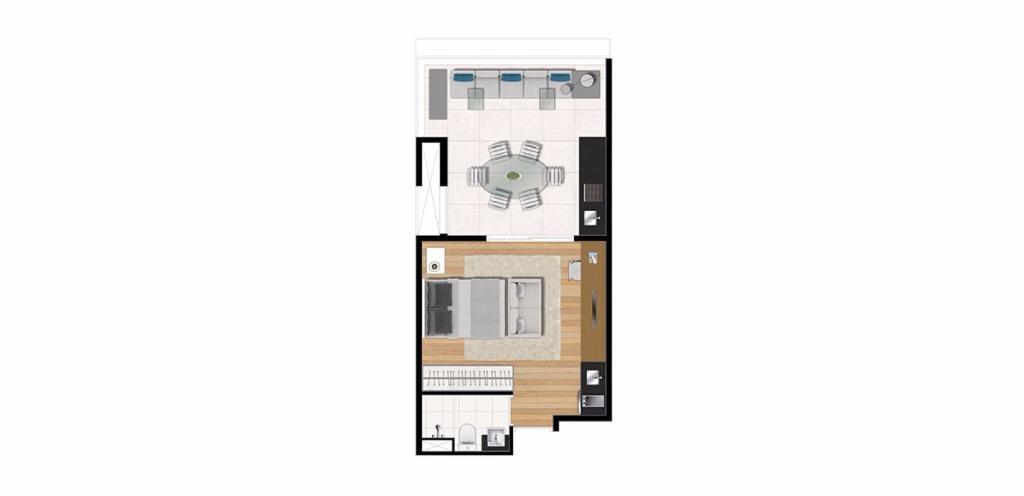 Planta Studio 40 m²