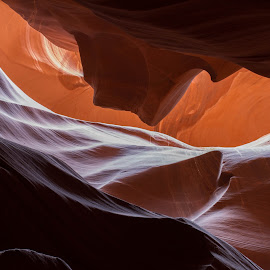 Upper Antelope Canyon I by Glenn Miller - Landscapes Caves & Formations ( page, silhouette, arizona, upper antelope canyon, sandstone, sunlight )