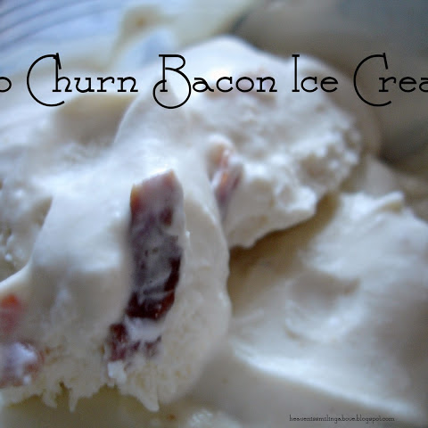 No Churn Bacon Ice Cream